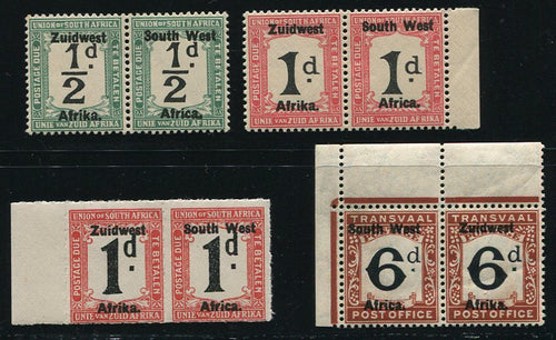 SWA 1923-7 POSTAGE DUES    MNH - SACC D13-16