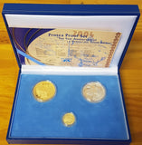 2004 NELSON MANDELA 10 YEAR DEMOCRACY GOLD  PROOF SET