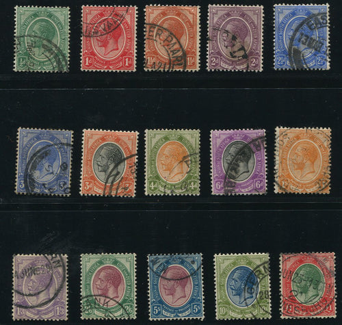 1913 KGV KINGSHEAD SET TO £1 - SACC 2-16