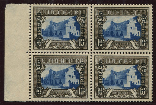 1935-1950 10/- OFFICIAL BLOCK OF 4 MNH/MINT -SACC O34