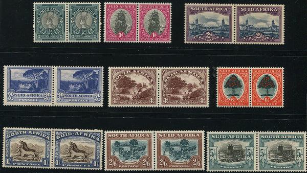 1947-1954 HYPHENATED & SCREENED DEFINITIVES  MNH- SACC 113-121
