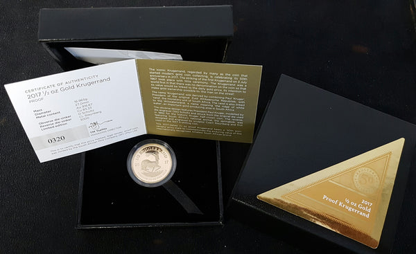 2017 50th ANNIVERSARY OF THE KRUGERRAND - 1/2 OUNCE PROOF COIN