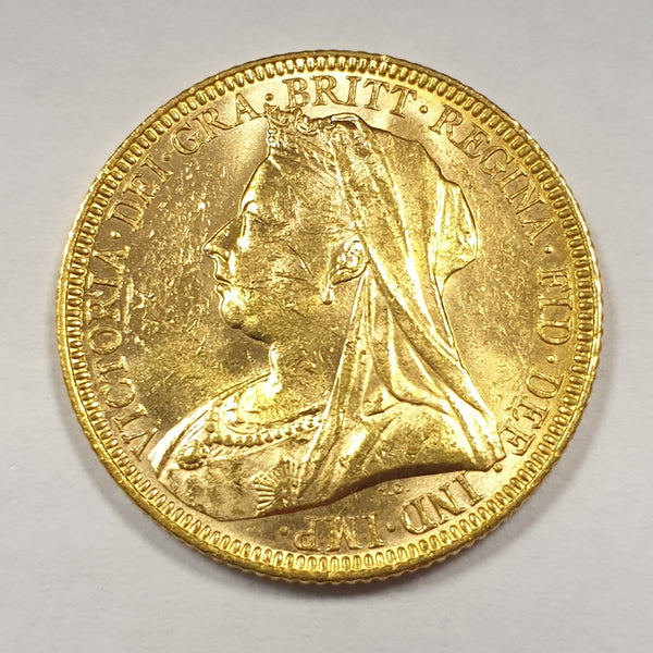 GREAT BRITAIN 1896 QUEEN VICTORIA GOLD SOVEREIGN