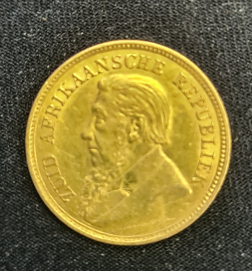 ZAR 1896 PAUL KRUGER HALF  POND -GOOD CONDITION