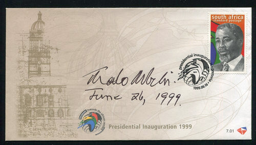 1999 INAUGURATION  FDC SIGNED BY PRESIDENT THABO MBEKI