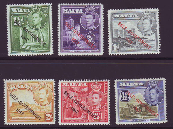 MALTA 1948 NEW CONSTITUTION KGV1 SET OF 21 MINT