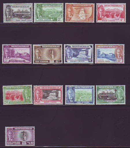 TURKS & CAICOS 1950  KGV1 SET OF 13  MINT