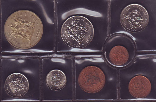1971 Uncirculated  Set 1c to R1