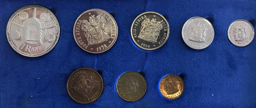 1974 Proof Set 1/2c to R1
