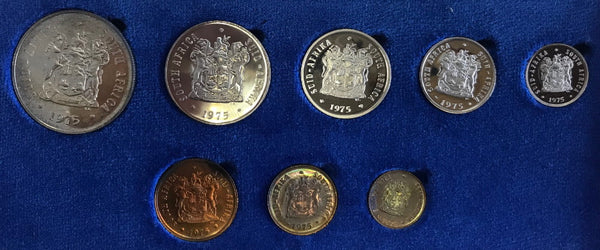 1975 Proof Set 1/2c to R1