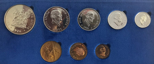 1976 Proof Set 1/2c to R1