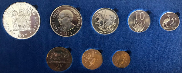 1979 Proof Set 1/2c to R1