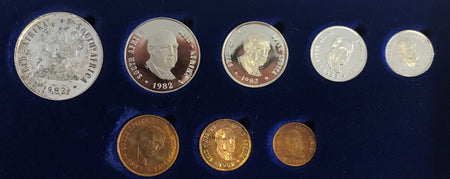 1992  Proof Set 1/2c to R2