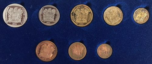 1991  Proof Set 1/2c to R2