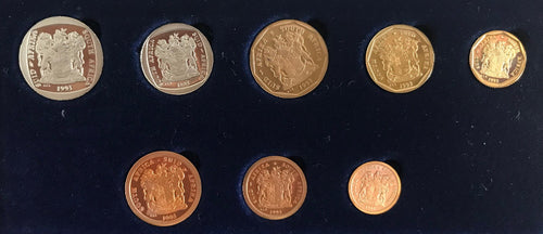 1993  Proof Set 1/2c to R2
