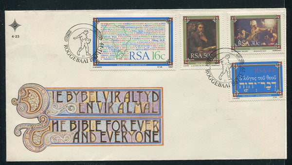 1987 RARE 40c BIBLE STAMP ON FDC
