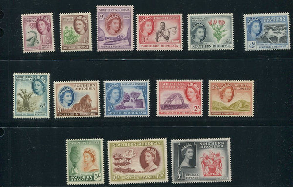 SOUTHERN RHODESIA 1953 DEFINITIVE SET UM