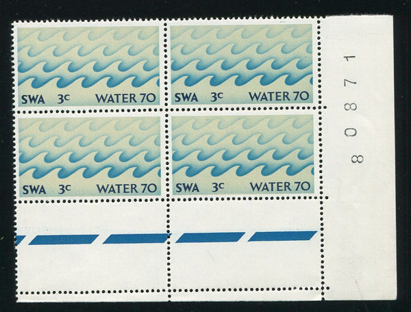 Copy of SWA 1970 WATER MISSING PHOSPHOR BANDS SHEET #   BLOCK OF 4