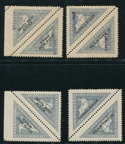 SWA 1927 TRIANGULAR SPECIMEN OVERPRINTS MINT