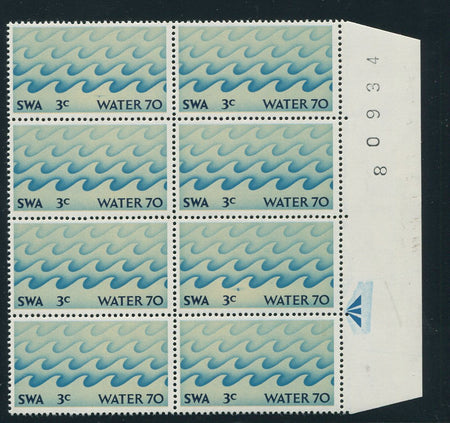 SWA 1924/6  TYPE V1a 10/- SPECIMEN BLOCK OF 6 - RARE