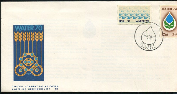 1970 WATER FDC - MISSING AIRMAIL TAG