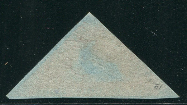 CAPE OF GOOD HOPE 1853 1d TRIANGLE ON DEEPLY BLUED PAPER FINE USED