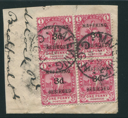 MAFEKING 1900 1d on 1/2d - FINE MINT