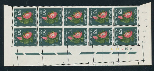 1966 12 1/2c DEFINITIVE MISPERFORATED CONTROL BLOCK