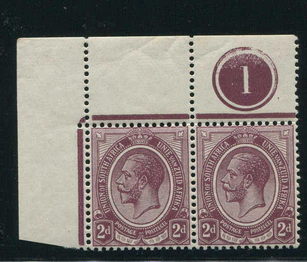 SA 1913 KGV KINGSHEAD 2d CONTROL PAIR TOP LEFT