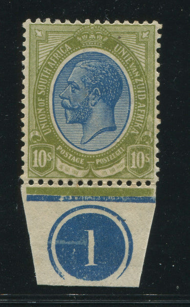 "SA 1913 KGV KINGSHEAD 10/-  BOTTOM CONTROL ""1"""