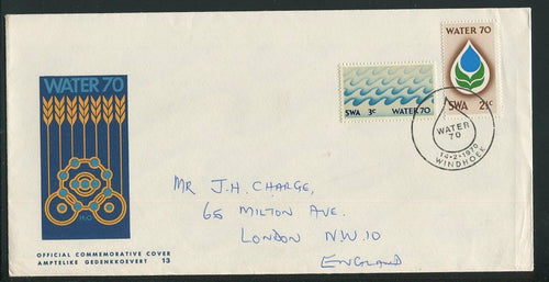 1972 WATER FDC MISSING AIRMAIL TAG - RARE!!