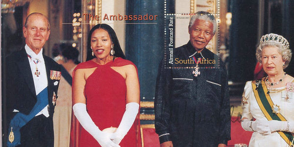 "2001 ""MANY FACES"" BOOKLET SIGNED BY PRESIDENT MANDELA -1O TIMES!"