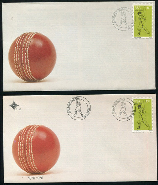 1976 CRICKET  FDC MISSING BLACK PRINTING