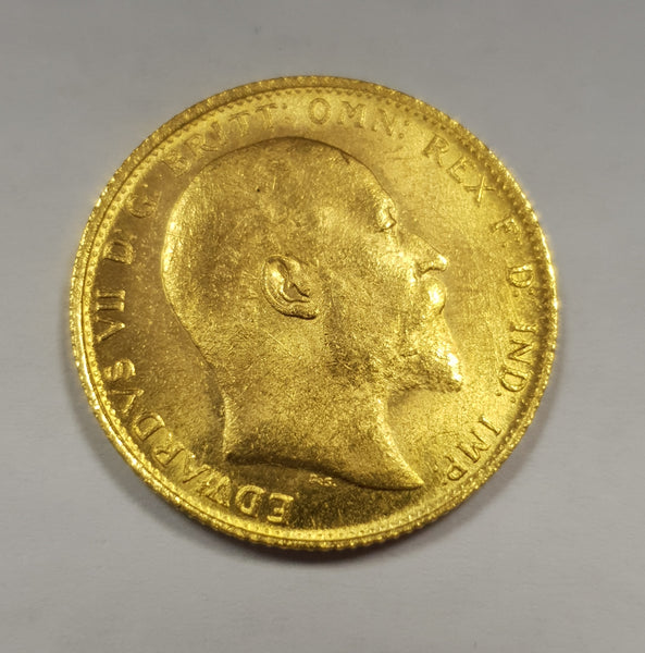 GREAT BRITAIN 1910 KING EDWARD V11 GOLD SOVEREIGN