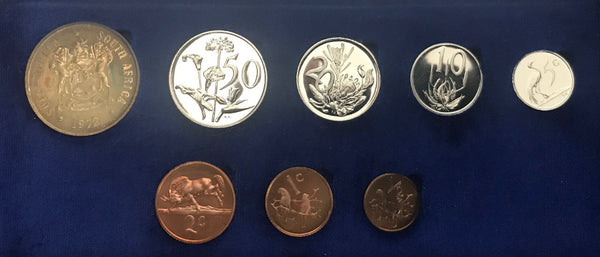 1972 Proof Set 1/2c to R1