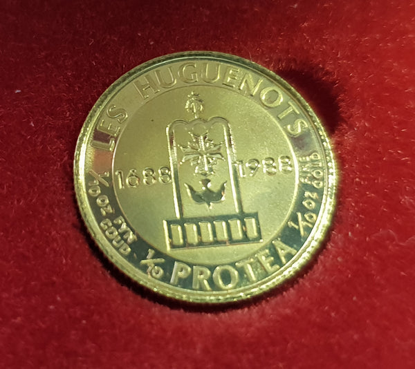 1988  PROTEA HUGUENOT ONE TENTH GOLD PROOF