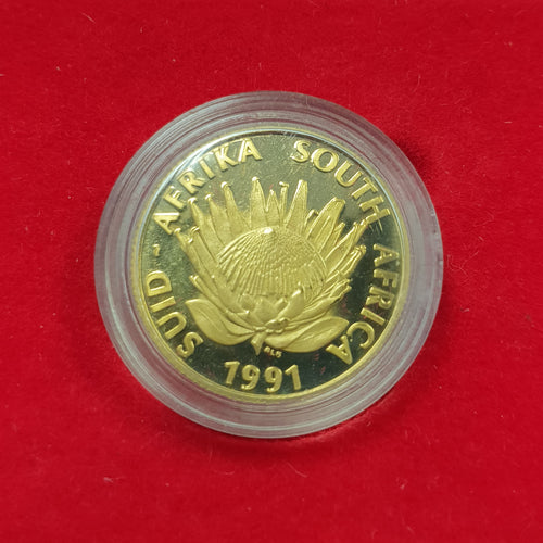 1991 PROTEA NURSING  ONE TENTH GOLD PROOF