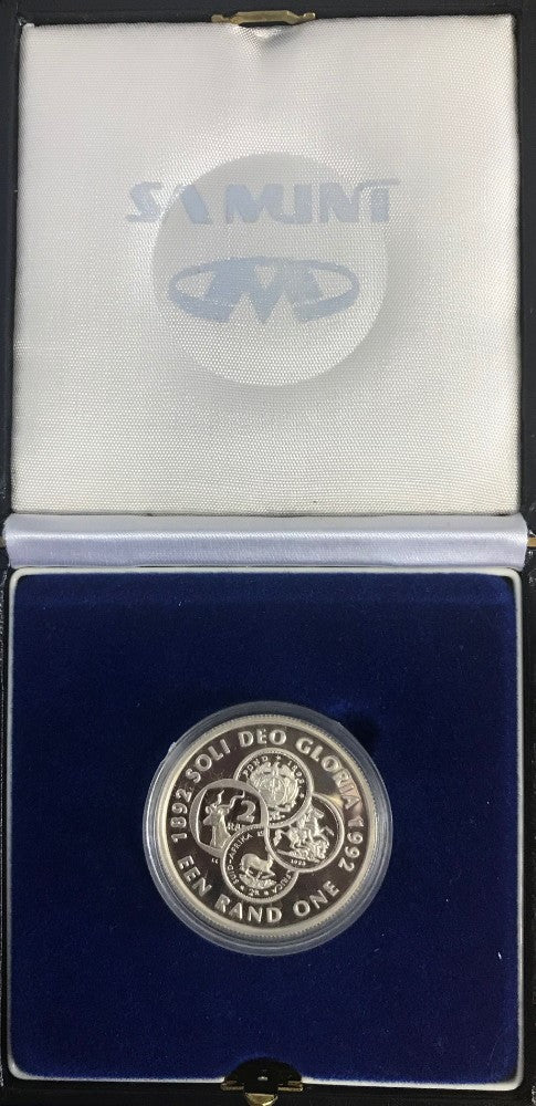 1992 R1 SILVER PROTEA 'COINAGE'  PROOF
