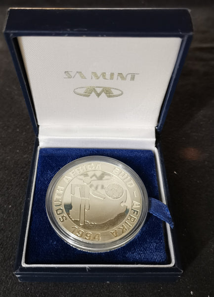 1994 PROOF SILVER TWO RAND -  SOCCER WORLD CUP