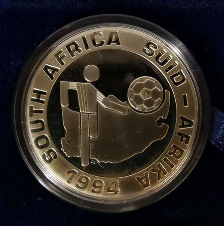 1996 PROOF SILVER TWO RAND - AFRICAN FOOTBALL CUP OF NATIONS