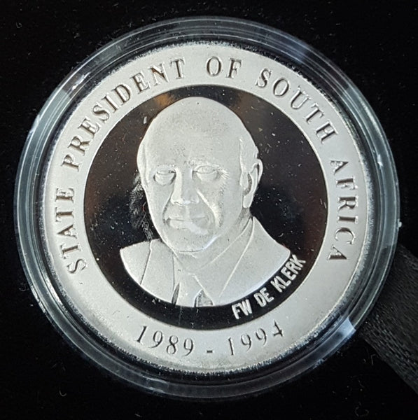 SOUTH AFRICA FW de KLERK ONE OUNCE PLATINUM MEDALLION