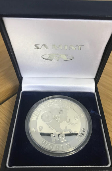 1994  R2 SILVER ONE OUNCE SOCCER WORLD CUP'  PROOF