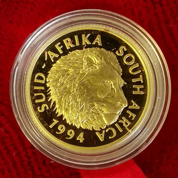 RSA 1994 ONE TENTH GOLD  OUNCE PROOF LION NATURA