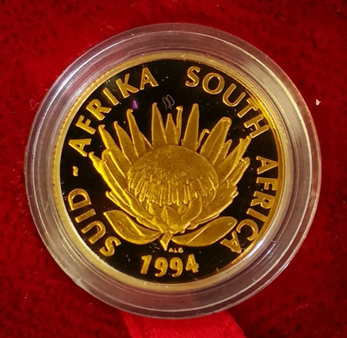 1994 PROTEA ONE TENTH OUNCE GOLD - CONSERVATION