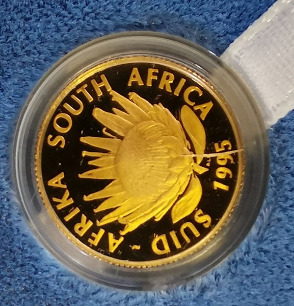 1995 PROTEA ONE TENTH OUNCE GOLD - TRAIN/LOCOMOTIVE