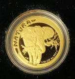 RSA 1996 ELEPHANT ONE TENTH OUNCE PROOF GOLD NATURA