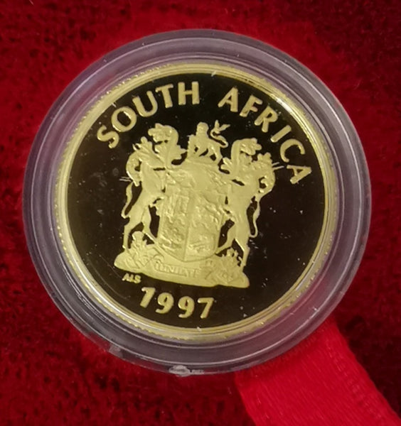 RSA 1997 HEART TRANSPLANT  ONE TENTH OUNCE PROOF GOLD