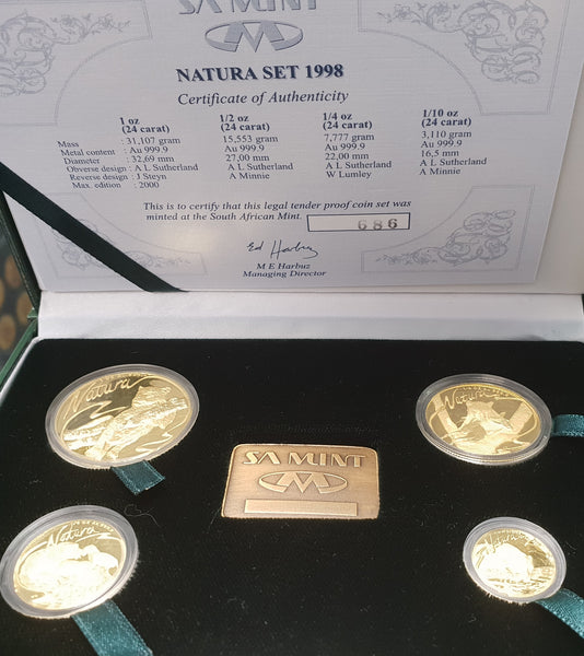 1998 NATURA LEOPARD PROOF SET