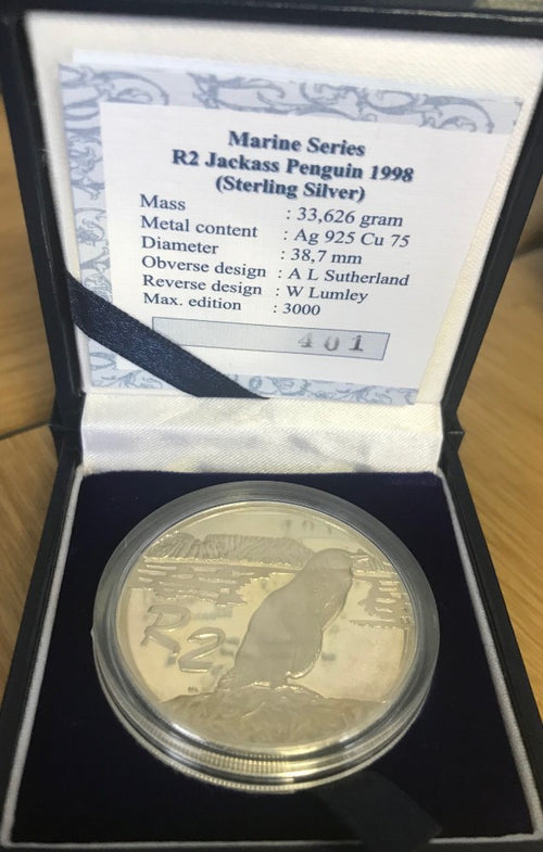 1998 R2 SILVER ONE OUNCE 'PENGUIN'  PROOF