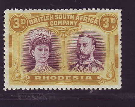 RHODESIA 1910 1/- DOUBLE HEAD FINE MINT SG 151 #2